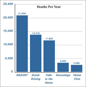 EPA Chart - Common Causes of Death in the US